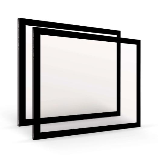 szyba kominkowa 4 mm z ramką czarną dekorem